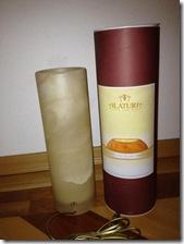Alabaster Lampe aus