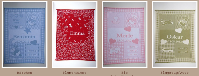 geschenk zur geburt babydecke mit namen aus kologisch feinster baumwolle die testerin. Black Bedroom Furniture Sets. Home Design Ideas