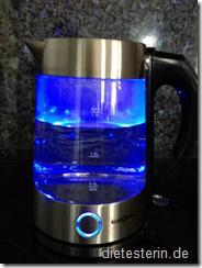 Wasserkocher beleuchtet