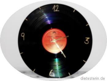 Basteln Originelle Uhr Aus Einer Schallplatte Die Testerin