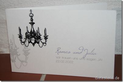 Feine Karten Hochzeit