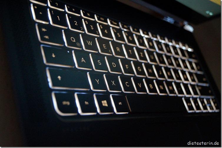 HP Spectre 13 Beleuchtete Tastatur