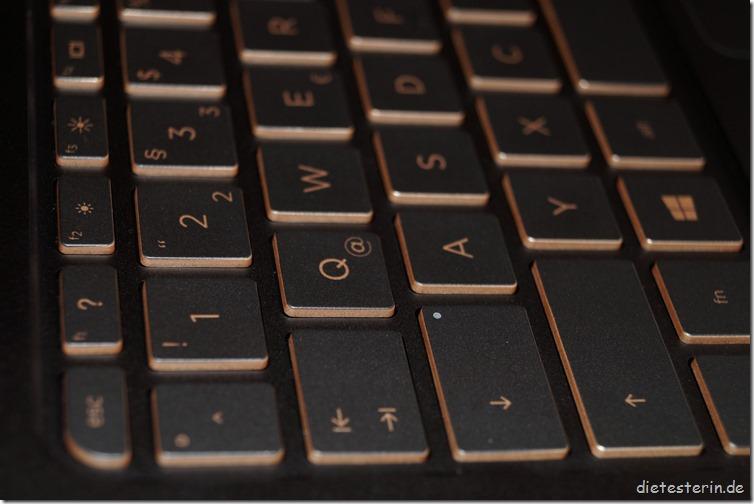 HP Spectre 13 Nahaufnahme Tastatur